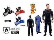 UKR Set 2 QSP Rennoverall nach ISO 11612 EN531 + RRS Handschuhe mit FIA