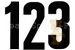 Startnummern 22 cm Schrifthöhe