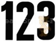 Startnummern 12 cm Schrifthöhe