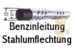 Benzinleitung mit verzinkter Stahlumflechtung
